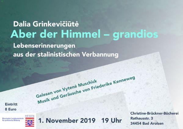 {#Herbst 2019 Plakat aber der himmel grandios_mit preis.Anzeige}