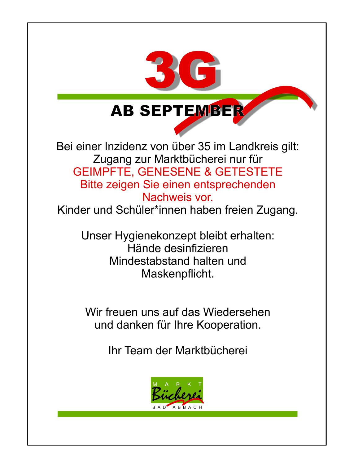 {#Bücherei September 3G}