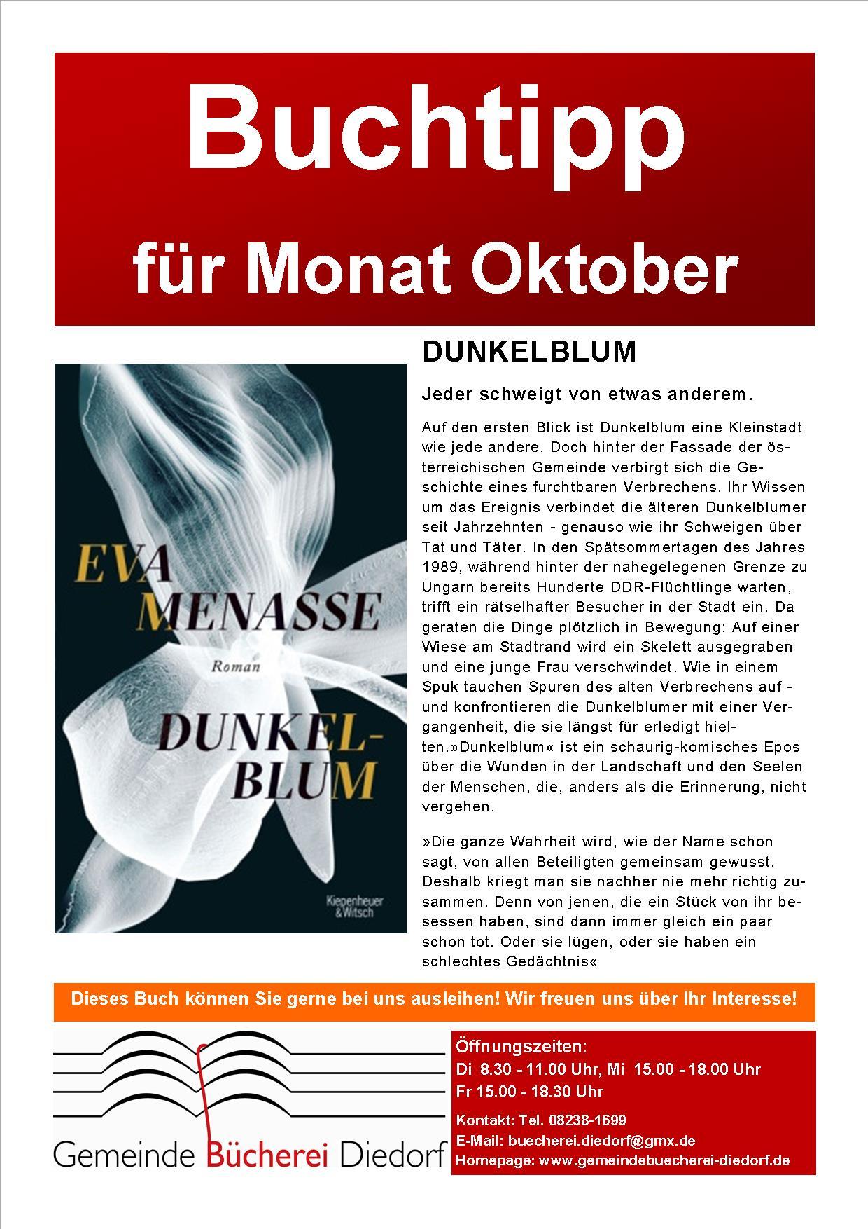 {#Bücherei-Buchtipp des Monats-Oktober}