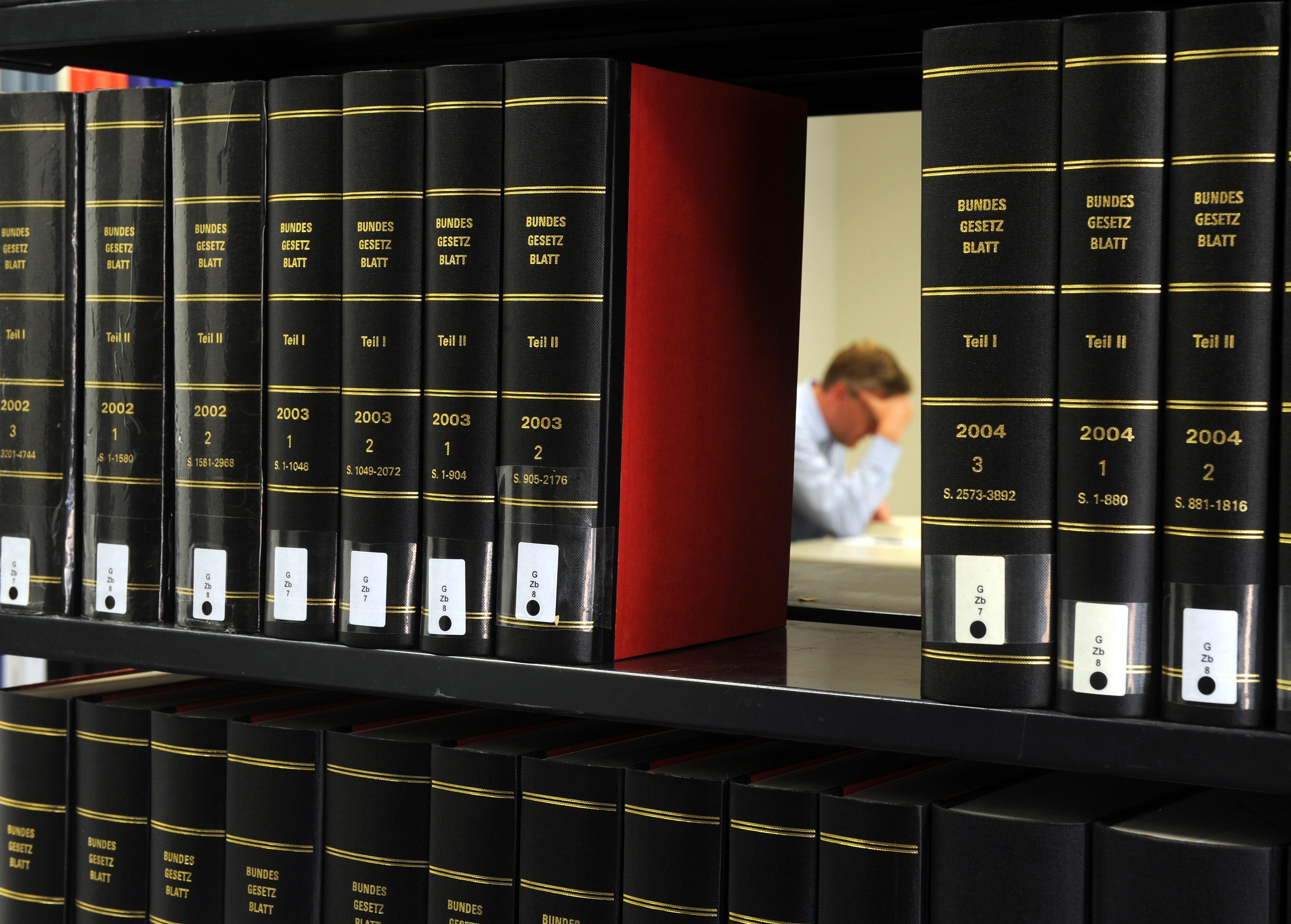 {#Bücherregal in der Gerichtsbibliothek}