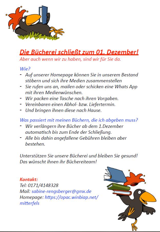 {#Bücherei Schließung}